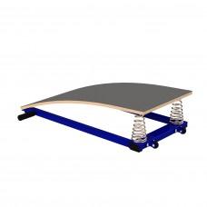 Мостик гимнастический подкидной гнутый 2 пружины
