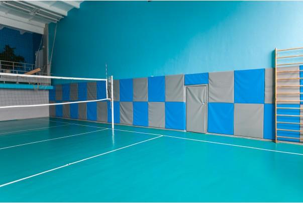Стеновые протекторы для спортивно-оздоровительного комплекса, волейбольного клуба Локомотив-Изумруд