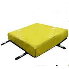 Надувная подушка в поролоновую яму
