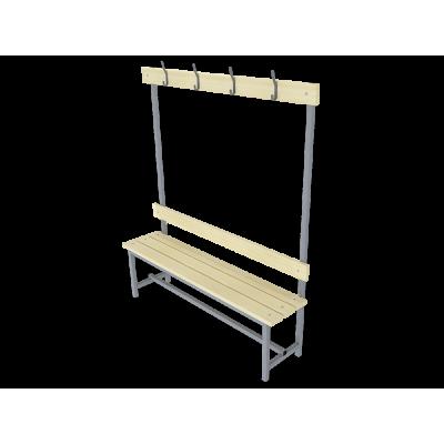 Купить скамью для раздевалок одностороннюю с вешалкой