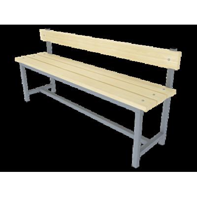 Купить скамейку для раздевалок  со спинкой